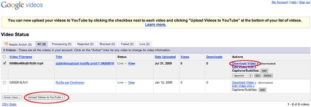 <p>Google Vídeos.</p>