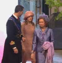 <p>La reina y los príncipes de Asturias</p>