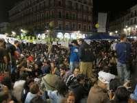 Cientos de acampados continúan su protesta en Valladolid pese a la resolución de la Junta Electoral Central
