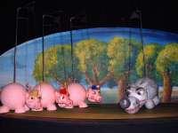 El espectáculo de 'Los tres cerditos' regresa al Teatro Arbolé tras más de 500 representaciones