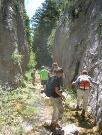 La Comarca de la Hoya de Huesca organiza la ruta 'Gargantas de Fabana'