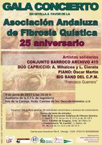 El concierto a favor de la Asociación Andaluza de Fibrosis Quística se celebra este jueves