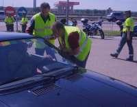 Moteros reivindican en Valladolid las dos ruedas para agilizar el tráfico en la ciudad y reclaman más seguridad