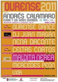 Nena Daconte, Maldita Nerea y Andrés Calamaro serán los platos fuertes de las Fiestas del Corpus de Ourense