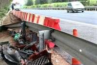 Los accidentes en carreteras extremeñas el fin de semana acarrean dos heridos graves y uno leve