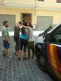 La Policía impide que los 'indignados' paralicen un desahucio en Palma que sí pudieron frenar hace un mes