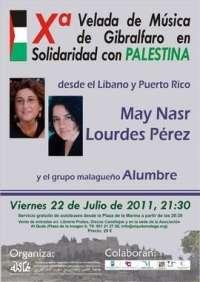 El Castillo de Gibralfaro acogerá una velada en solidaridad con el pueblo palestino