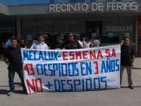 Trabajadores de Mecalux-Esmena lleva su protesta por el despido de tres empleados que estaban de baja a la Fidma