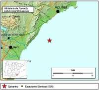 Registrado un terremoto de 2,7 grados de magnitud al sureste de la costa de Pulpí