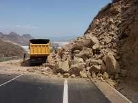 El terremoto de 2,7 grados de magnitud provoca desprendimientos de rocas en una carretera de Pulpí