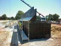 El viaducto del tranvía de Alcalá de Guadaíra en el tramo de Cabeza Hermosa estará finalizado en septiembre