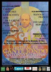 Calixto Sánchez, Manolo Franco y Javier Barón, este sábado en el Festival flamenco Antonio Mairena