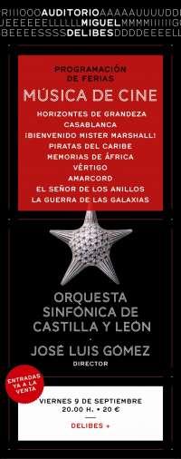 Salen a la venta las entradas para el concierto de música de cine que la OSCyL ofrecerá el día 9 en Valladolid