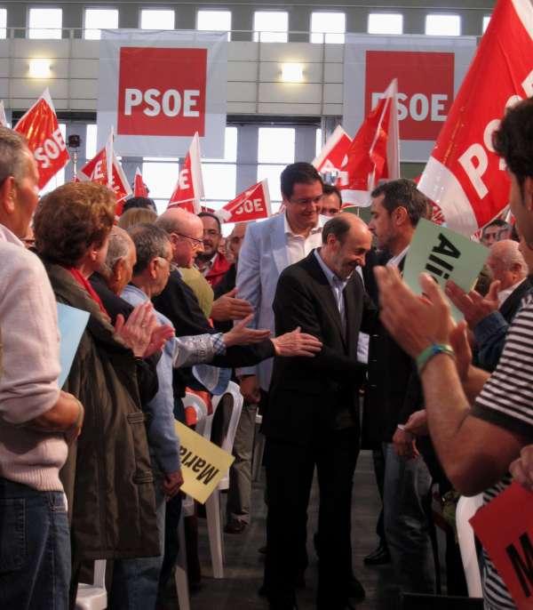 Rubalcaba visita este viernes el PTS y mantiene un encuentro con militantes y cargos del PSOE