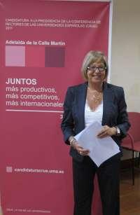 La rectora apuesta por la empleabilidad, la globalidad y la universidad pública en su candidatura a la CRUE