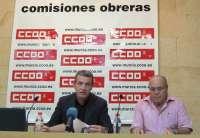 CCOO trasladará a ayuntamientos y Asamblea Regional una moción para que el Estado no congele en 2012 las pensiones