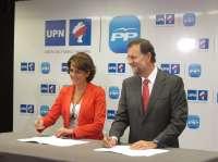 Rajoy y Barcina dicen que con el acuerdo UPN-PP