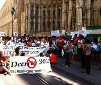 Interinos cumplen este lunes 15 días de encierro en la Catedral de Sevilla sin conseguir la derogación del 'decreto 302'
