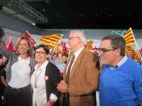 Chacón centra su discurso contra el PP y no dedica una palabra a CiU