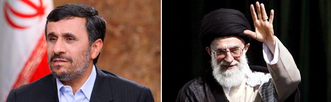 Ahmadineyad y Jamenei