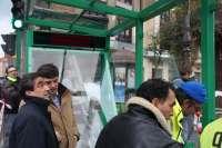 Se empiezan a instalar las primeras marquesinas verdes del Torrebús
