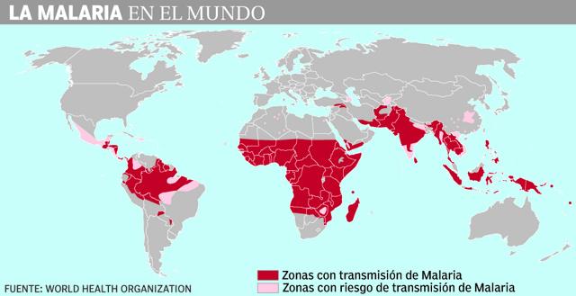 <p>La malaria, en el mundo.</p>