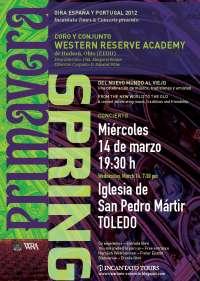 La Iglesia de San Pedro Mártir de Toledo acoge este miércoles el concierto del Coro y Conjunto 'Western Reserve Academy'