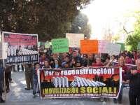 Cerca de 4.000 personas se manifiestan en Murcia para denunciar el estancamiento de las ayudas por los seísmos de Lorca