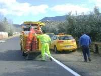 Diputación destina más de 200.000 euros a mejorar antes de verano la señalización de 55 carreteras de la provincia