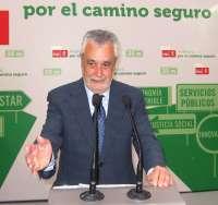Griñán anuncia reducción de consejerías y afirma que IU-CA es la que tendrá que decidir si entra en el Gobierno