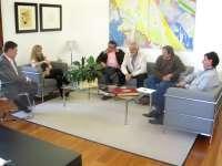 Isabel Carrasco informa a los portavoces en la Diputación sobre temas de actualidad como San Isidro o el Conservatorio
