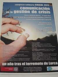 Profesionales de Administración, medios y empresa debatirán el 27 de abril sobre gestión de la comunicación de crisis
