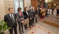 El Gobierno de Navarra recibe al Ángel de Aralar