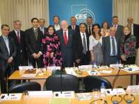 Delegación del CES marroquí y CES-A abordan juntas las experiencias regionales en materia de concertación