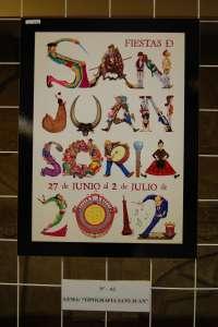 El cartel 'Tipografía Sanjuanera', de César Ordóñez, presentará las Fiestas de San Juan de Soria