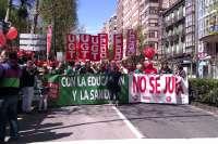 UGT y CCOO conmemoran el 1 de Mayo con una manifestación en Santander y una concentración en Reinosa