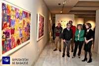 La pintora Laura Marroquín muestra en Badajoz 'Retrospectiva', una selección de sus mejores obras