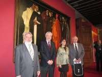 El Palacio de Sástago expone la obra restaurada 'Los Compromisarios' de Marín Bagüés