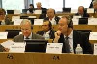 Fabra y Valcárcel defienden en Bruselas el Corredor Mediterráneo como red prioritaria para la UE