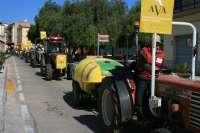 Cientos de agricultores y cerca de cincuenta tractores participan en la cuarta Marcha Verde de AVA-Asaja