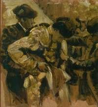 El artista César Val plasma en negro y oro