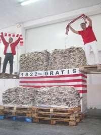 Un comercio de Barakaldo repartirá 1.822 kilos de bacalao entre los aficionados apuntados a su web si el Athletic gana