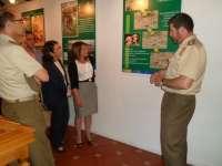 Más de 30 paneles reflejan la vida diaria de un soldado en el Centro de Formación de Tropa (Cefot 1) de Cáceres