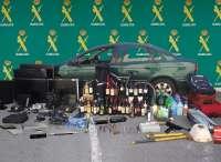 Desmantelan una organización que había cometido 39 robos en bares y garajes y detienen a cuatro personas