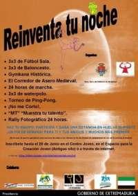 Comienzan en Valencia de Alcántara (Cáceres) actividades del programa 'Reinventa tu noche'