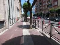 Las obras de remodelación de la acera este de la calle Víctor Pradera comienzan este lunes