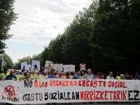 Iniciativa Social se manifiesta en Pamplona contra los recortes sociales