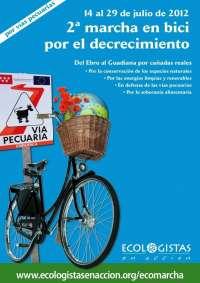 La marcha 'Pedaleando caminos alternativos' de Ecologistas en Acción recorrerá Extremadura en cinco etapas