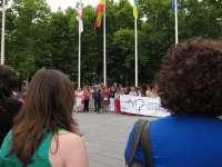 Los Servicios Sociales municipales y alumnos de la UR protagonizan la concentración de julio contra el maltrato