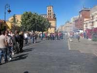 Un centenar de mineros protagoniza una sonora protesta con lanzamiento de petardos en León